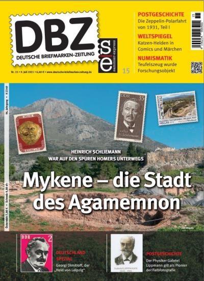 DBZ DEUTSCHE BRIEFMARKEN-ZEITUNG 15/2021