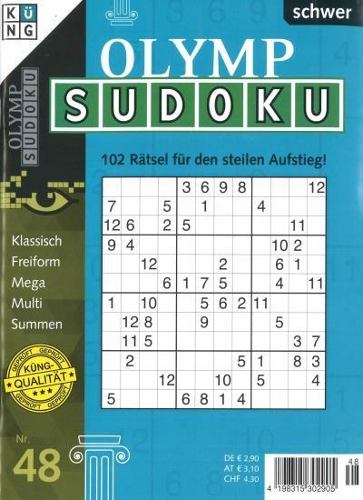OLYMP SUDOKU 48/2020