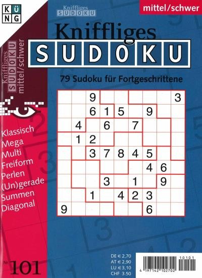 KNIFFLIGES SUDOKU 101/2021