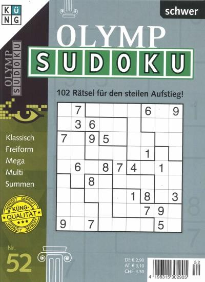 OLYMP SUDOKU Abo